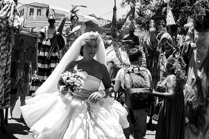Woman dancing in Brazil's Carnival.