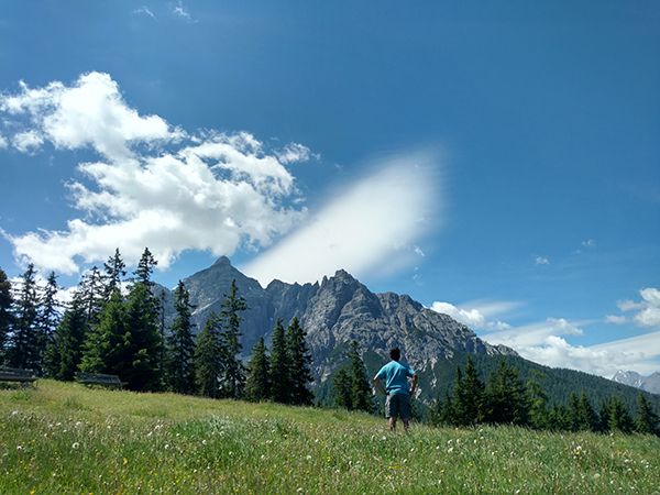Anthony in Austrian landscapes