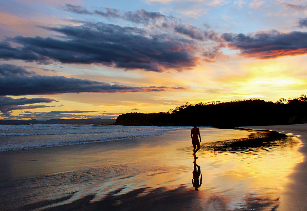 Sunset in Jervis Bay, Australia