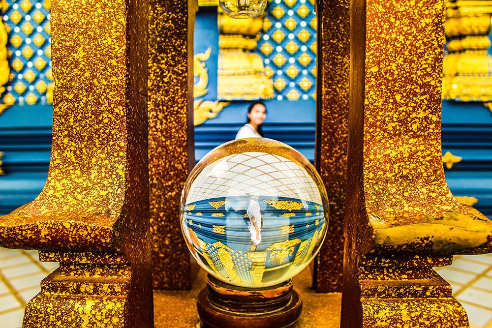 A crystal ball in Chiang Rai, Thailand
