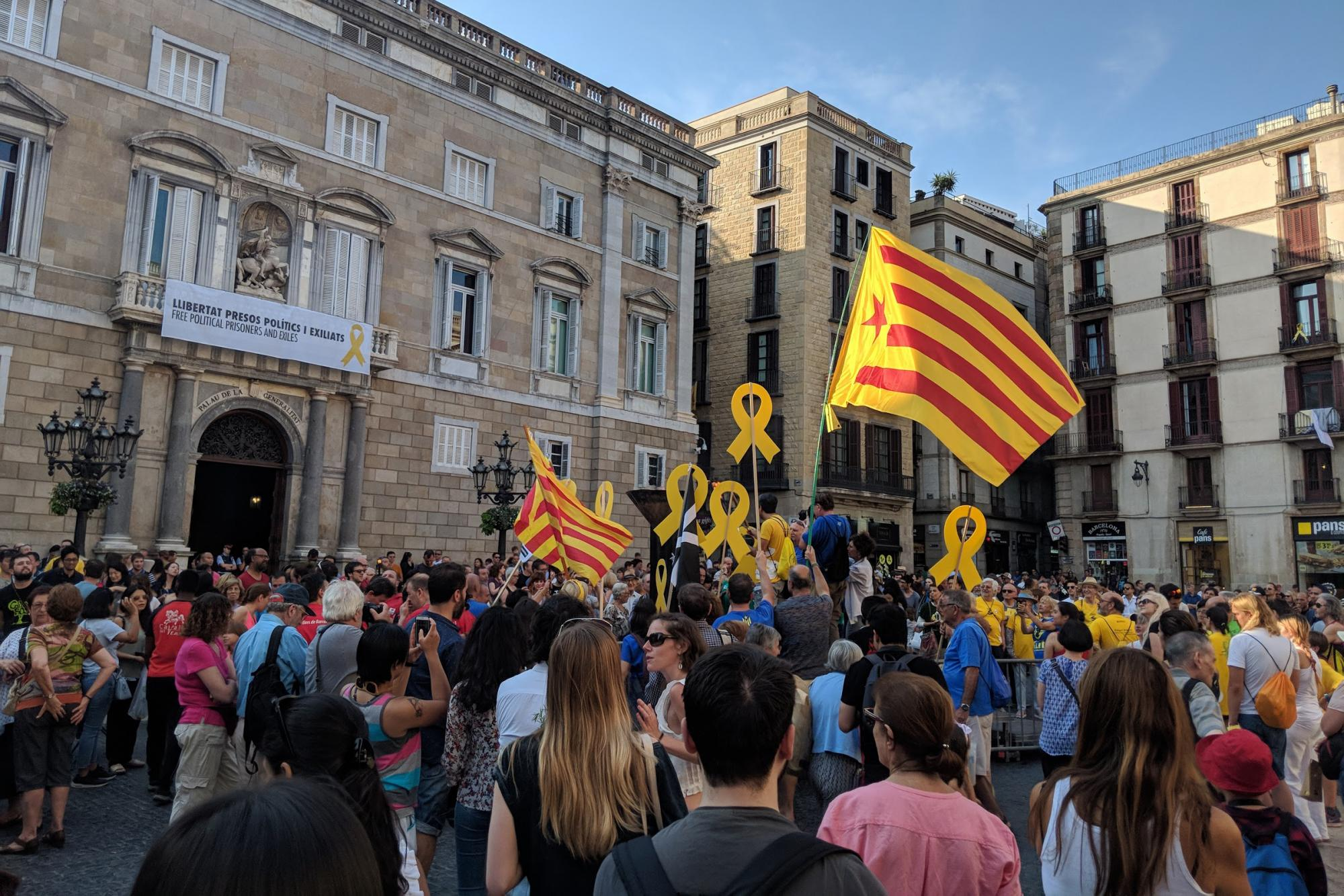 A protest in Barcelona