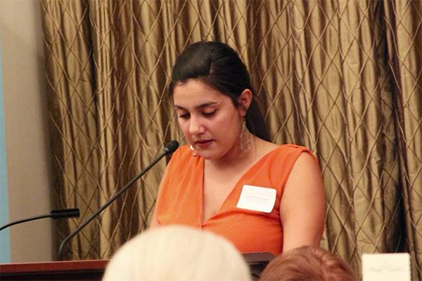 Marielisa doing her speech