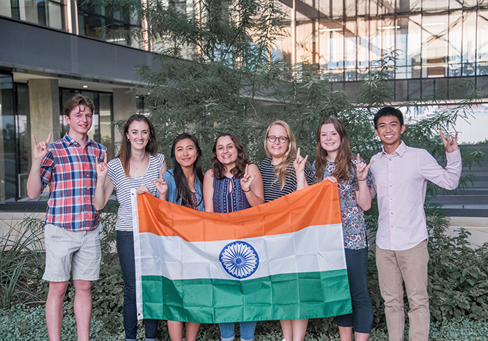 Team PUC India with an Indian flag