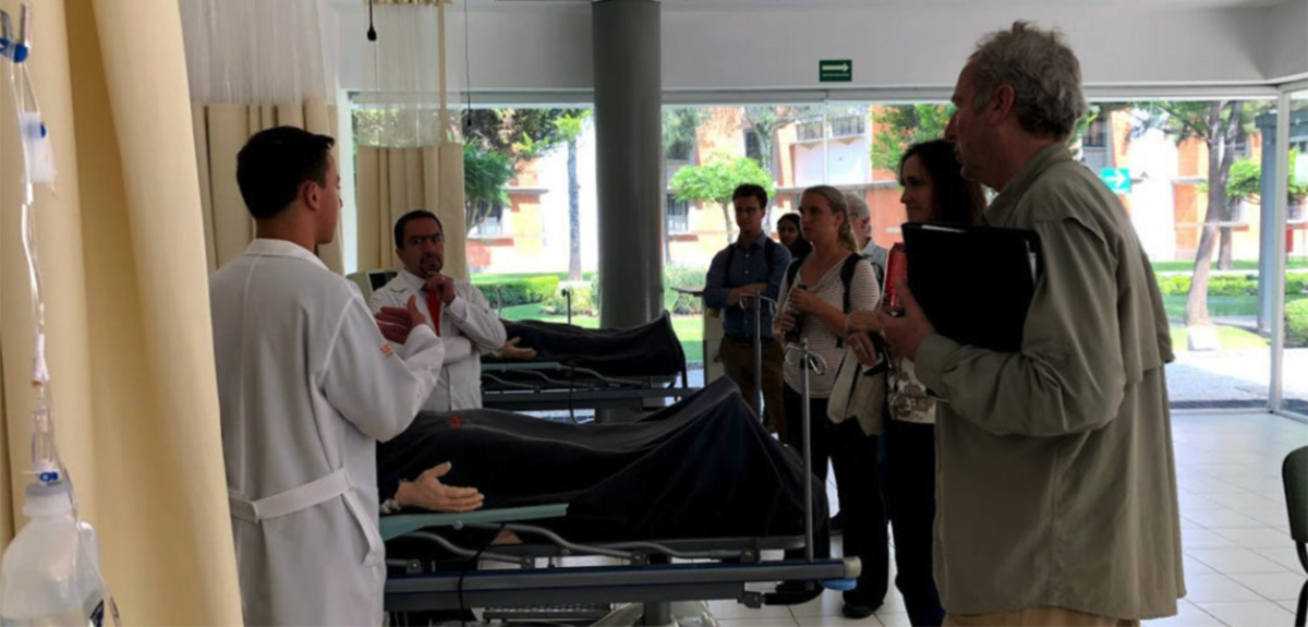 Touring medical facilities in Puebla
