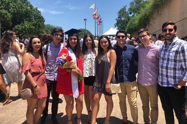 Marielisa with friends on graduation