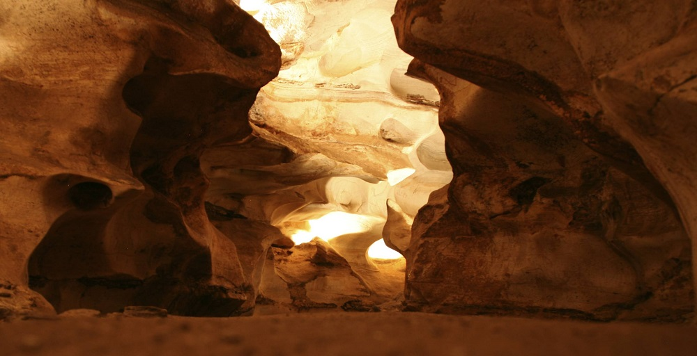 A view of the formations inside the Longhorn Caverns.