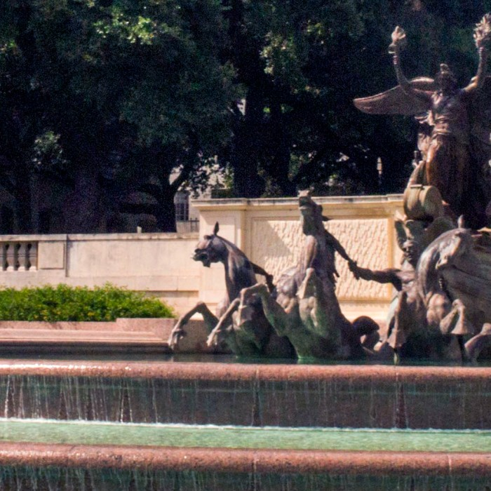 a view of the ut littlefield fountain