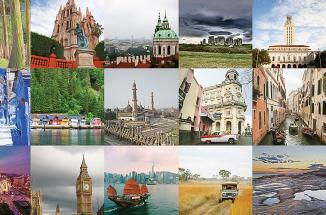 Collage of cities abroad