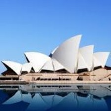 Sydney Opera House with reflection in water