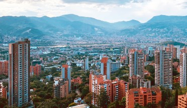a landscape view of a city in colombia