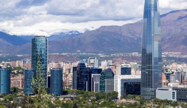 a view of the santiago skyline