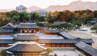 a view of temples in seoul, south korea