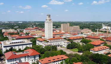 an aerial view of the ut campus